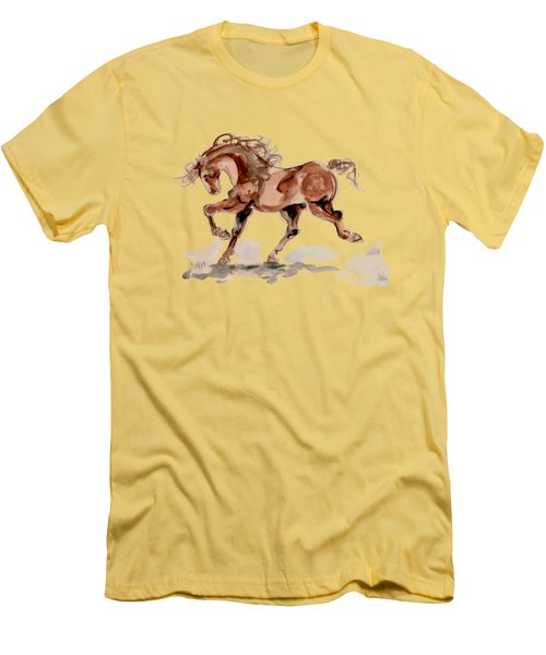 Men's T-Shirt (Slim Fit) featuring the drawing Taking Stride 2 by Mary Armstrong