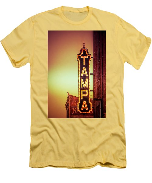Men's T-Shirt (Slim Fit) featuring the photograph Tampa Theatre by Carolyn Marshall