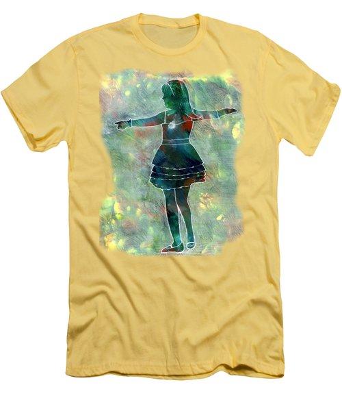 Tap Dancer 2 - Green Men's T-Shirt (Slim Fit) by Lori Kingston