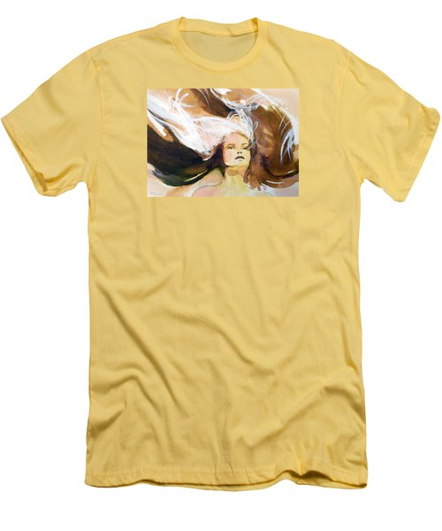 Men's T-Shirt (Slim Fit) featuring the painting Tatiana by Ed  Heaton