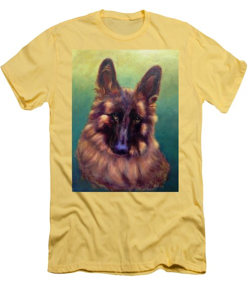 Men's T-Shirt (Slim Fit) featuring the painting Tayto by Sarah Farren