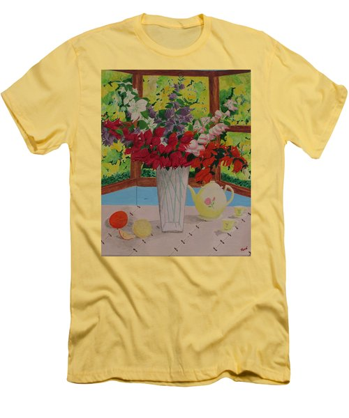 Tea Time Men's T-Shirt (Slim Fit) by Hilda and Jose Garrancho