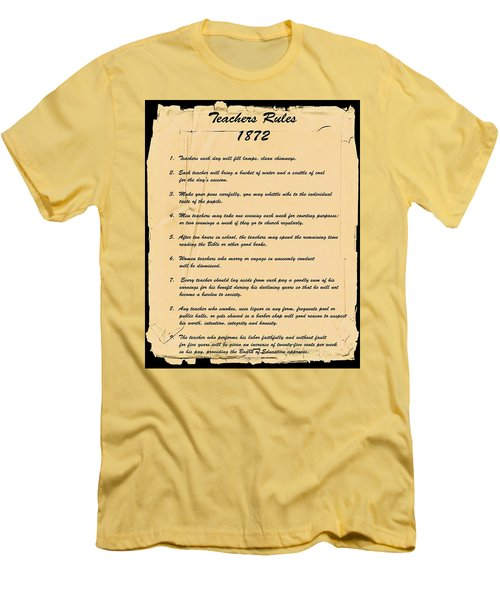 Teachers Rules 1872 Men's T-Shirt (Athletic Fit)