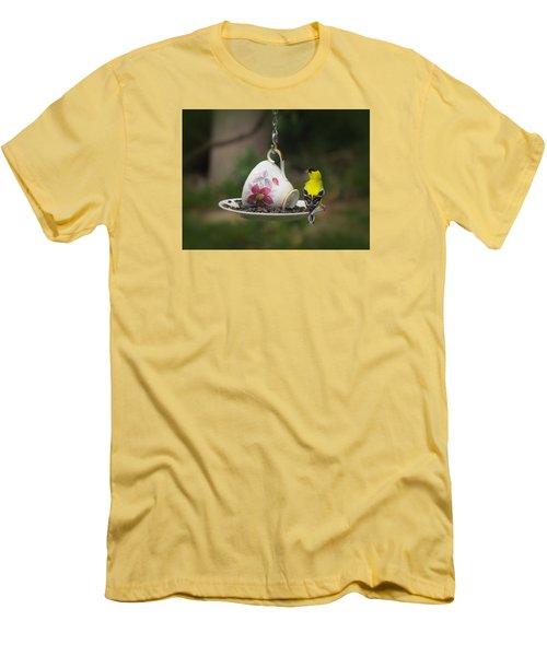 Teacup Finch Men's T-Shirt (Slim Fit) by MTBobbins Photography