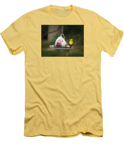 Teacup Finch Men's T-Shirt (Athletic Fit)