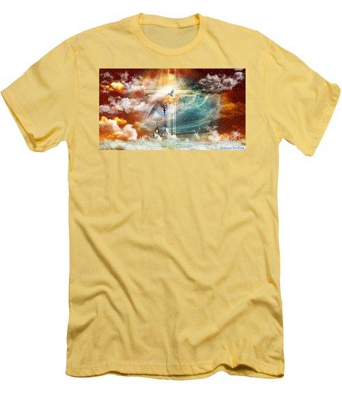 Men's T-Shirt (Slim Fit) featuring the digital art Tears To Triumph by Dolores Develde