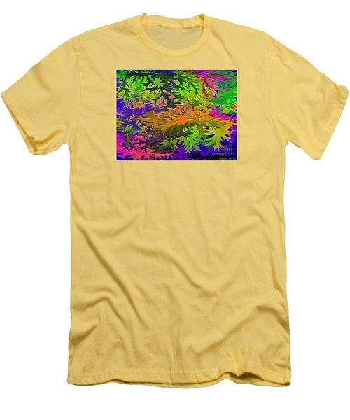 Technicolor Leaves Men's T-Shirt (Slim Fit) by Patricia Griffin Brett