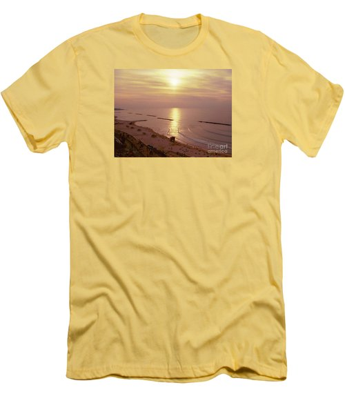 Tel Aviv Beach Morning Men's T-Shirt (Athletic Fit)
