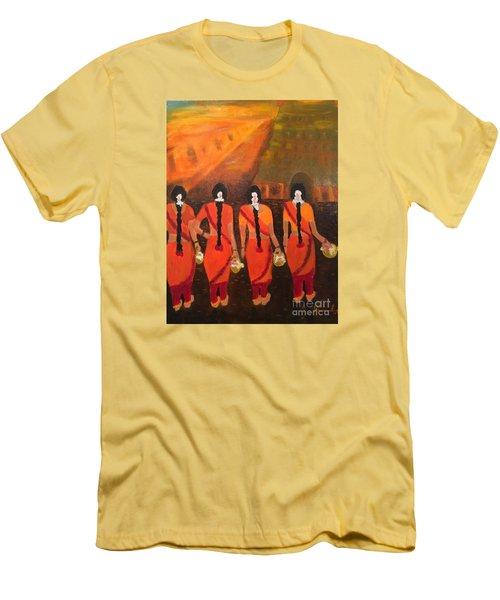Temple Dancers Men's T-Shirt (Athletic Fit)