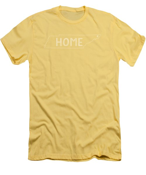 Men's T-Shirt (Slim Fit) featuring the digital art Tennessee Home by Heather Applegate
