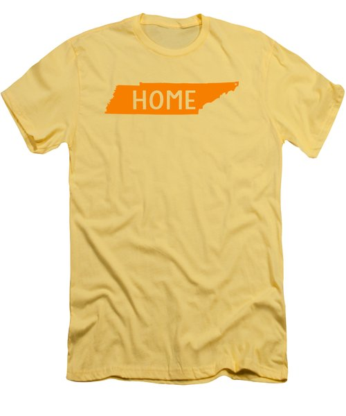 Tennessee Home Orange Men's T-Shirt (Slim Fit) by Heather Applegate