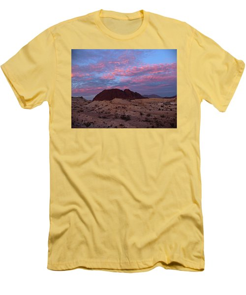 Men's T-Shirt (Slim Fit) featuring the painting Terlingua Sunset by Dennis Ciscel