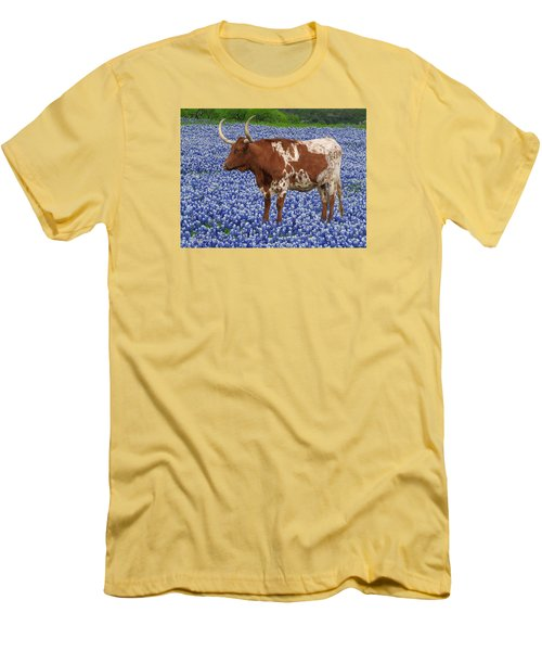 Da227 Tex And The Bluebonnets Daniel Adams Men's T-Shirt (Athletic Fit)