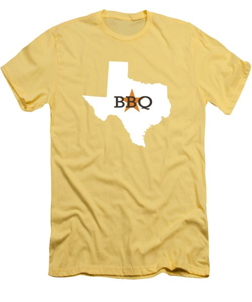 Texas Bbq Men's T-Shirt (Slim Fit) by Nancy Ingersoll