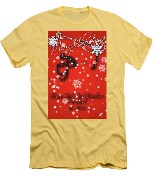 Texas Tech Red Raiders Christmas Card Men's T-Shirt (Athletic Fit)