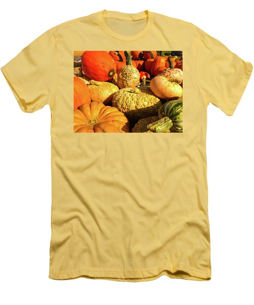 Men's T-Shirt (Slim Fit) featuring the photograph Textures Of Fall by Rod Seel