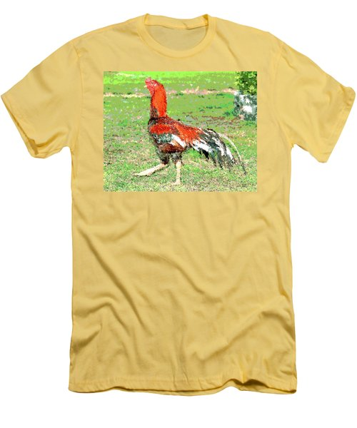 Thai Fighting Rooster Men's T-Shirt (Slim Fit) by Charles Shoup