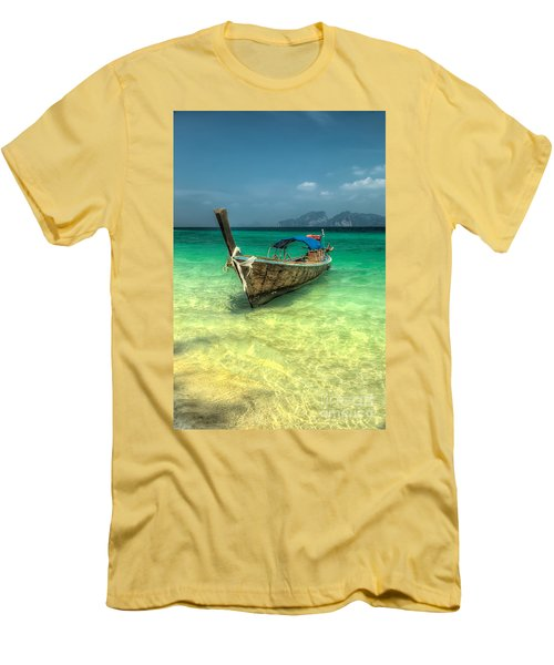 Thai Longboat  Men's T-Shirt (Slim Fit) by Adrian Evans