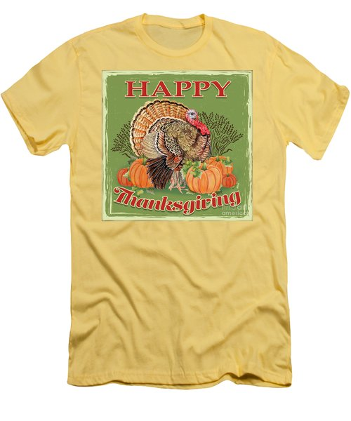 Men's T-Shirt (Slim Fit) featuring the painting Thanksgiving-b by Jean Plout