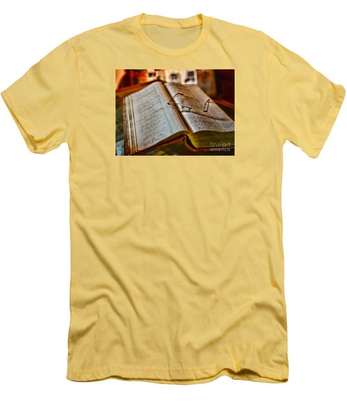 The Accountant's Ledger Men's T-Shirt (Slim Fit) by Paul Ward