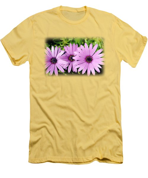 The African Daisy T-shirt 3 Men's T-Shirt (Slim Fit) by Isam Awad