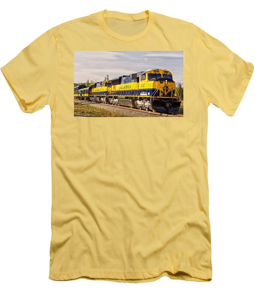 Men's T-Shirt (Slim Fit) featuring the photograph The Alaska Railroad by Michael Rogers