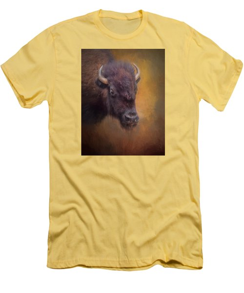 The American Bison II Men's T-Shirt (Slim Fit) by David and Carol Kelly