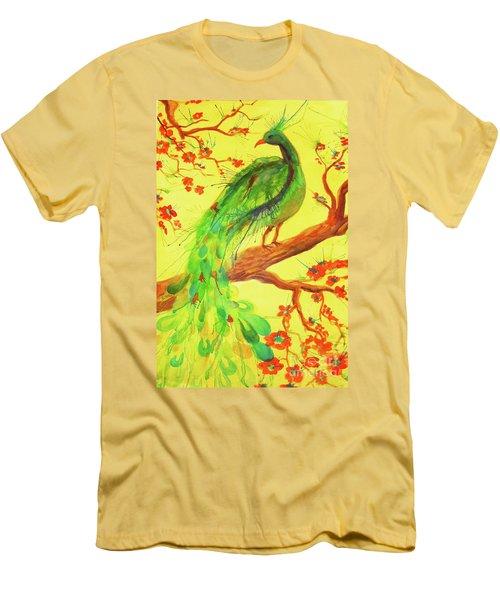 The Auspicious Peacock Men's T-Shirt (Athletic Fit)