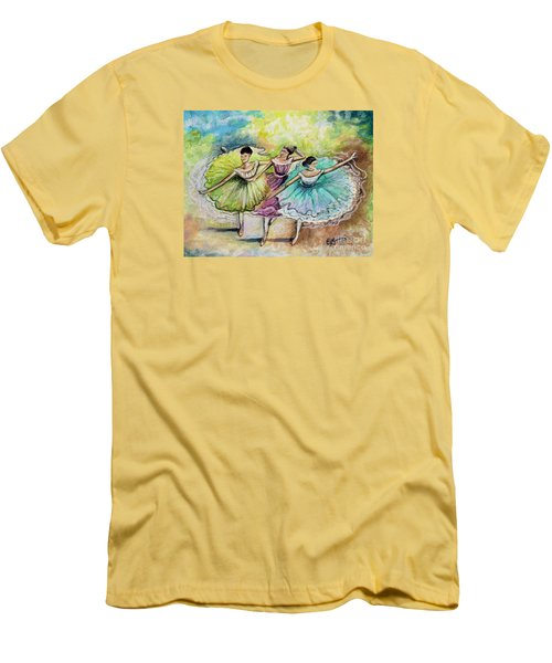 The Ballerina Dancers Men's T-Shirt (Slim Fit) by Elizabeth Robinette Tyndall