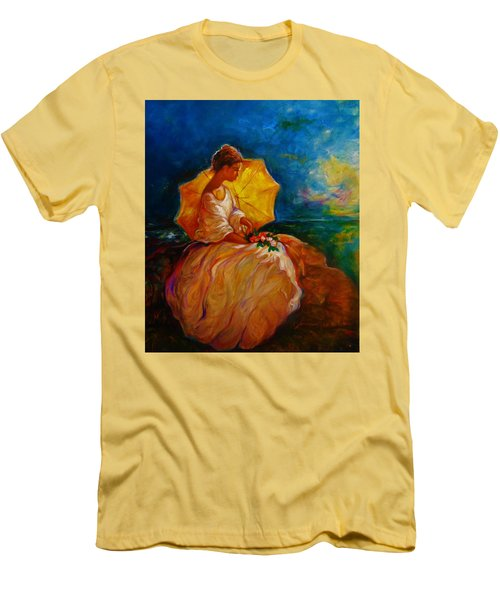 Men's T-Shirt (Slim Fit) featuring the painting The Beautiful Outdoors by Emery Franklin