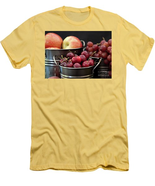 Men's T-Shirt (Slim Fit) featuring the photograph The Beauty Of Fresh Fruit by Sherry Hallemeier