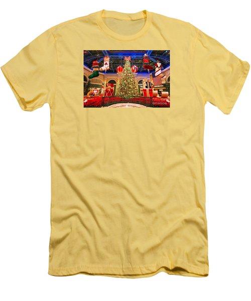 The Bellagio Christmas Tree 2015 Men's T-Shirt (Slim Fit) by Aloha Art
