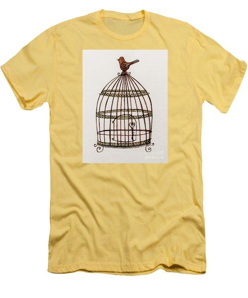The Birdcage Men's T-Shirt (Slim Fit) by Elizabeth Robinette Tyndall