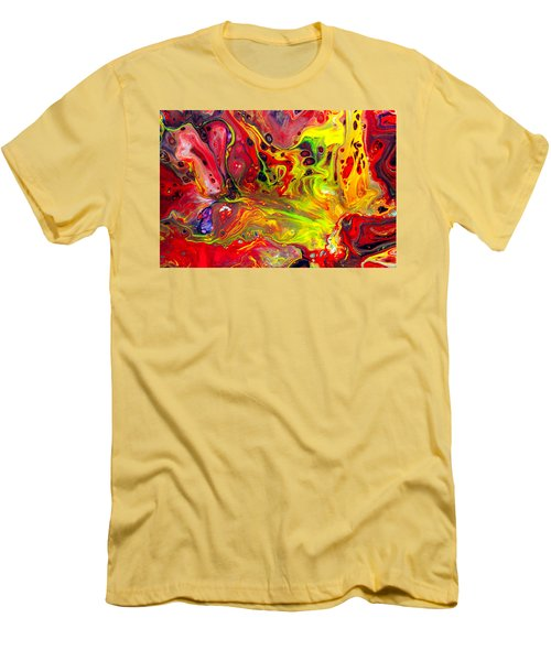 The Birth Of Diamonds - Abstract Colorful Mixed Media Painting Men's T-Shirt (Slim Fit) by Modern Art Prints