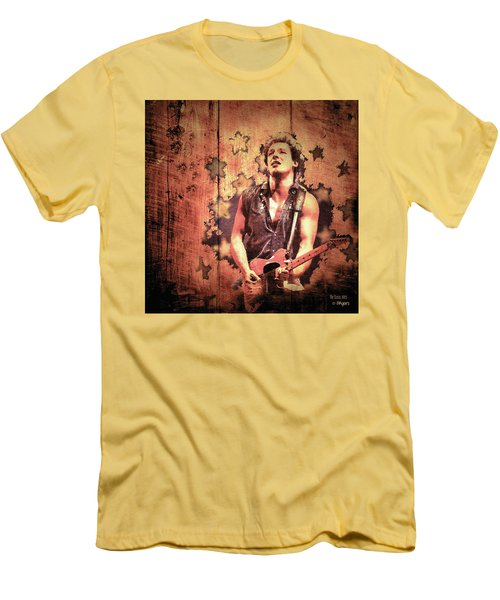 Men's T-Shirt (Slim Fit) featuring the photograph The Boss 1985 by Paula Ayers