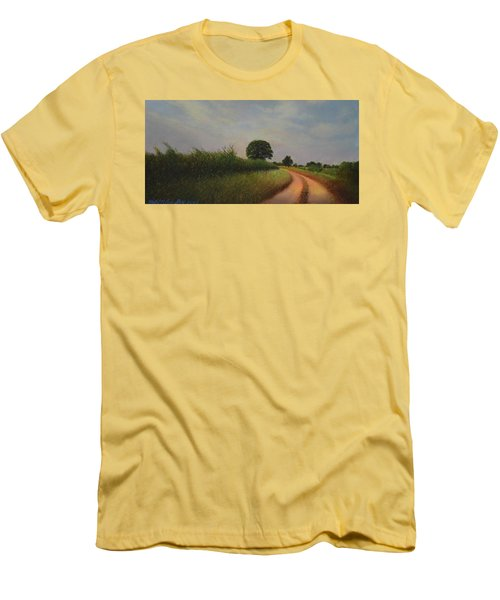 The Brighter Road Ahead Men's T-Shirt (Slim Fit) by Blue Sky