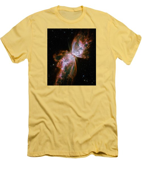 The Butterfly Nebula  Men's T-Shirt (Slim Fit) by Hubble Space Telescope