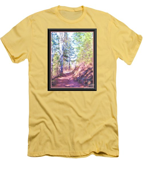 Men's T-Shirt (Slim Fit) featuring the photograph The Copper Path by Shirley Moravec