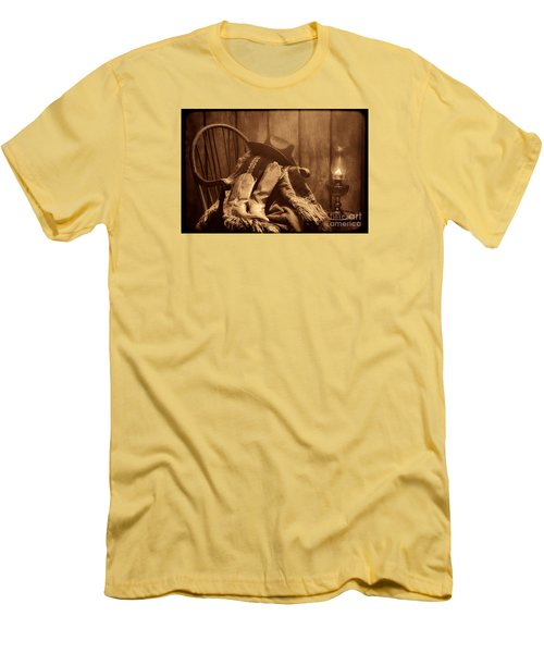 The Cowgirl Rest Men's T-Shirt (Slim Fit) by American West Legend By Olivier Le Queinec