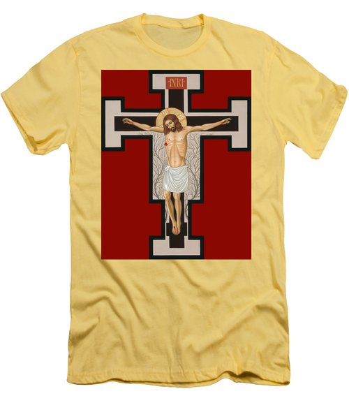 The Crucified Lord 017 Men's T-Shirt (Slim Fit) by William Hart McNichols