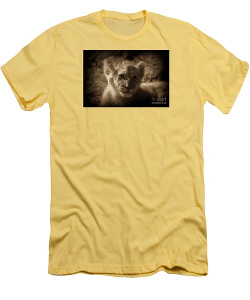 Men's T-Shirt (Slim Fit) featuring the photograph The Cub by Lisa L Silva