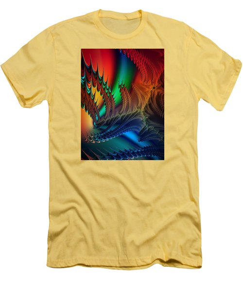 Men's T-Shirt (Slim Fit) featuring the digital art The Dragon's Den by Kathy Kelly