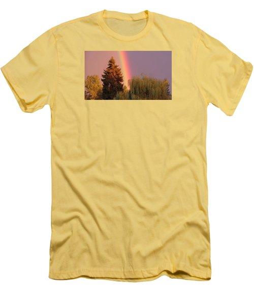 The End Of The Rainbow Men's T-Shirt (Slim Fit) by Karen Molenaar Terrell