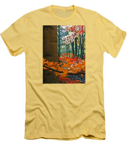 Men's T-Shirt (Slim Fit) featuring the photograph The Ever Elusive Power Lines  But I Got Them by Cliff Spohn