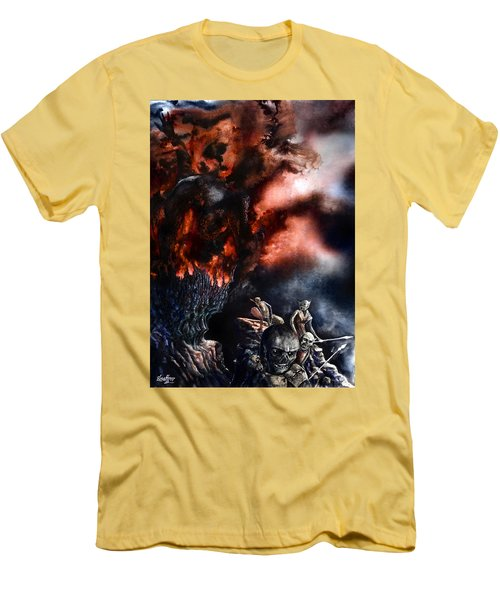 The Fall Of Azturath Men's T-Shirt (Slim Fit) by Curtiss Shaffer