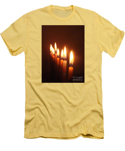 The Festival Of Lights Men's T-Shirt (Slim Fit) by Annemeet Hasidi- van der Leij