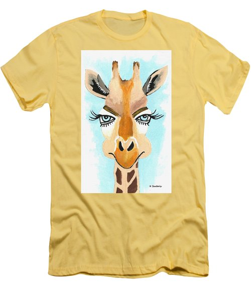 Men's T-Shirt (Slim Fit) featuring the painting The Flirt by Kathleen Sartoris