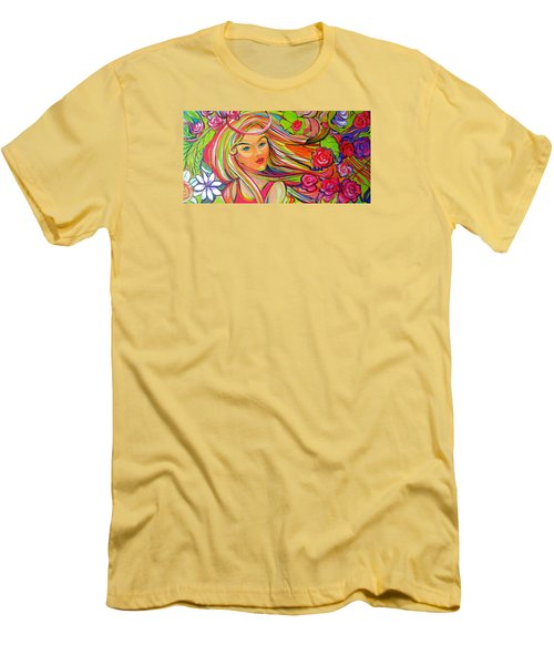 The Girl With The Flowers In Her Hair Men's T-Shirt (Athletic Fit)