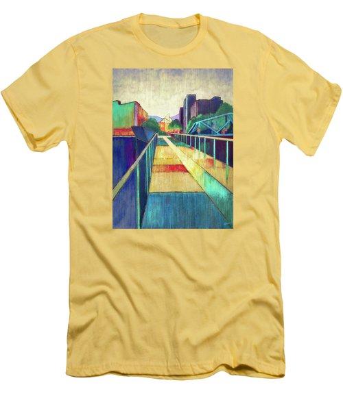 The Glass Bridge Men's T-Shirt (Slim Fit) by Steven Llorca