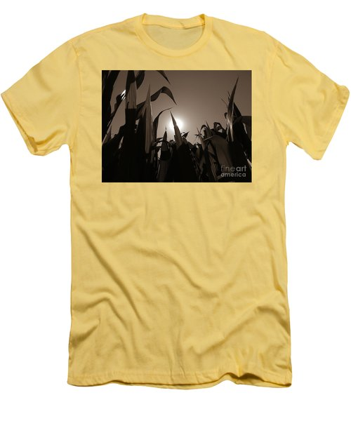 The Hiding Sun - Sepia Men's T-Shirt (Athletic Fit)
